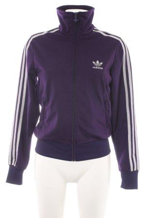 Adidas Sweat Jacket dark violet shimmery