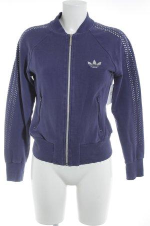 Adidas Chaqueta de tela de sudadera violeta oscuro estilo deportivo