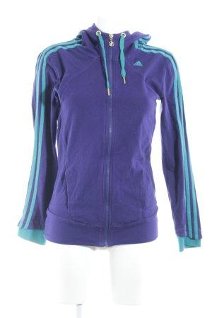Adidas Sweatjacke dunkelviolett-türkis sportlicher Stil