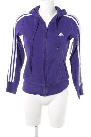 Adidas Sweatjacke dunkelviolett-weiß sportlicher Stil
