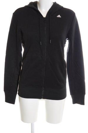 Adidas Sweatjacke schwarz-weiß Streifenmuster Casual-Look