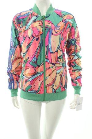 Adidas Sweatjacke florales Muster Street-Fashion-Look