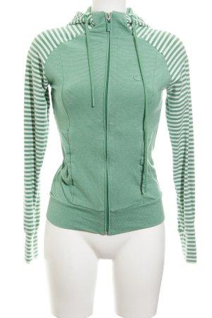 Adidas Sweatjack groen-wit gestreept patroon casual uitstraling
