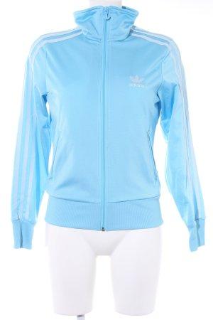 Adidas Sweatjacke hellblau sportlicher Stil