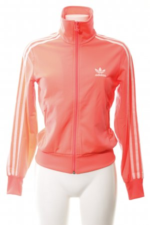 Adidas Sweat Jacket bright red-white casual look