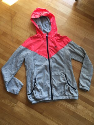 Adidas Sweatjacke in grau/orange