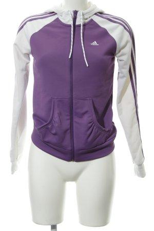 Adidas Sweatjacke lila-weiß Casual-Look