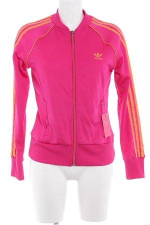 Adidas Sweatjacke magenta-hellorange sportlicher Stil
