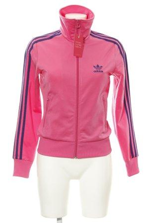 Adidas Sweatjacke magenta sportlicher Stil
