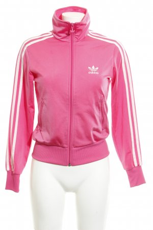 Adidas Sweat Jacket pink-white casual look
