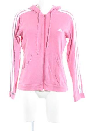 Adidas Sweatjacke rosa-weiß Casual-Look