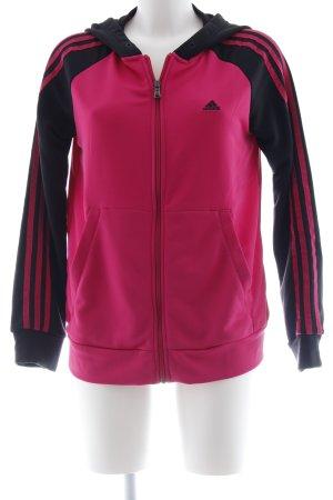 Adidas Sweatjacke schwarz-pink Casual-Look