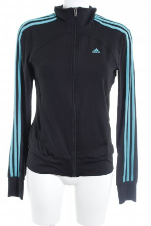 Adidas Veste sweat noir-turquoise style athlétique