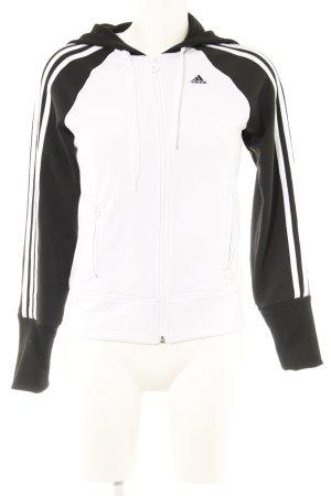 Adidas Chaqueta de tela de sudadera negro-blanco look casual