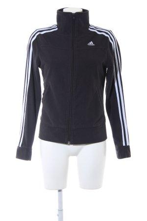 Adidas Sweatjacke schwarz-weiß sportlicher Stil