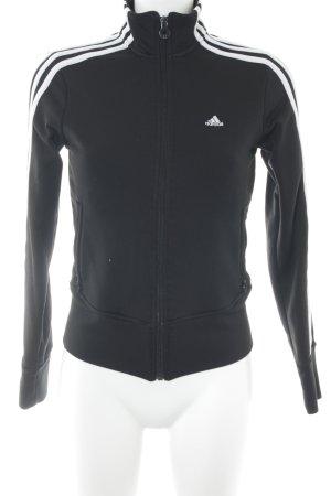 Adidas Sweatjacke schwarz-weiß Streifenmuster sportlicher Stil