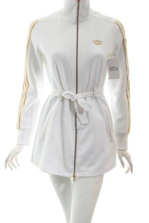 Adidas Sweatjacke weiß-goldfarben sportlicher Stil
