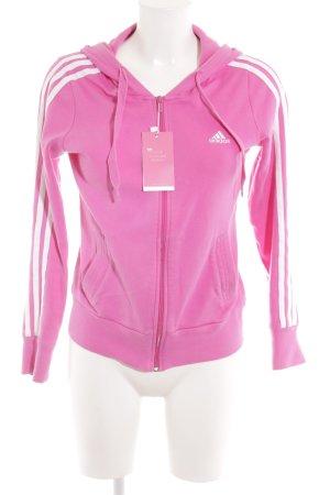 Adidas Sweatjacke weiß-pink sportlicher Stil