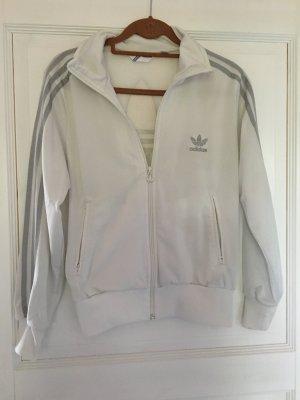 Adidas Sweatjacke weiß silber Gr. 42
