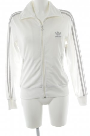 Adidas Sweat Jacket white-silver-colored striped pattern athletic style