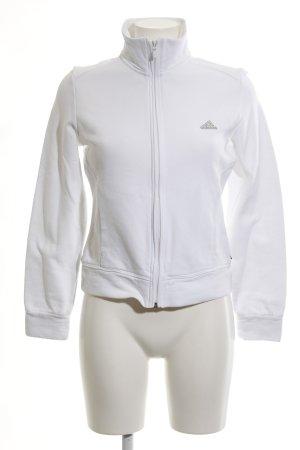 Adidas Sweatjacke weiß sportlicher Stil