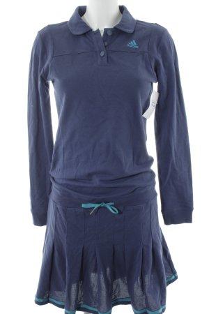 Adidas Vestido de tela de sudadera azul acero-azul cadete estilo deportivo