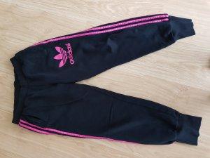 Adidas Pantalon de jogging noir-rouge framboise