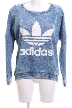Adidas Sweatshirt blau meliert Casual Look