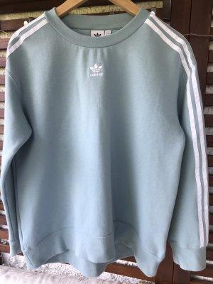 Adidas Maglione girocollo bianco-azzurro