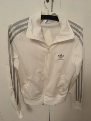 Adidas Veste sweat blanc-gris clair