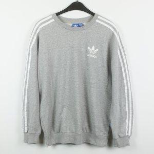 Adidas Originals Felpa argento-bianco Tessuto misto