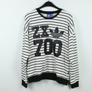 ADIDAS Sweatshirt Gr. 40 schwarz weiß (19/10/184)