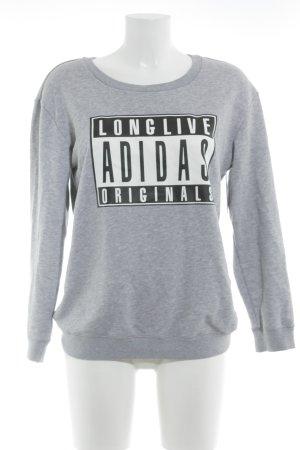 Adidas Sweatshirt grijs casual uitstraling