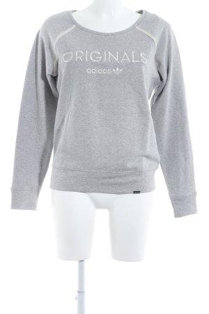 Adidas Sweatshirt hellgrau Casual-Look