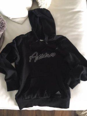 Adidas Originals Felpa con cappuccio nero Cotone