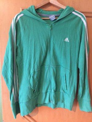 Adidas Sweatshirt-Jacke in grün