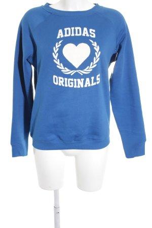 Adidas Sweatshirt Monogram-Muster Skater-Look
