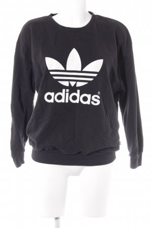 Adidas Suéter negro look casual