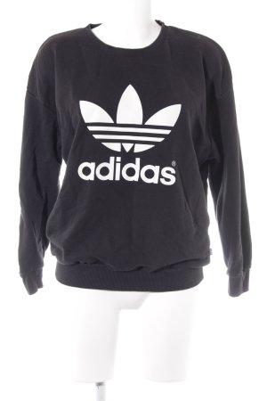 Adidas Sweatshirt noir style décontracté