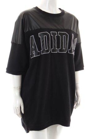 Adidas Felpa nero-bianco stile da moda di strada