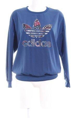 Adidas Sweatshirt stahlblau Casual-Look