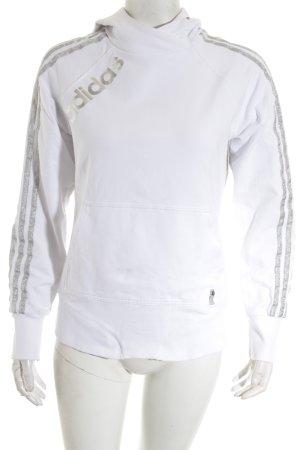 Adidas Sweatshirt weiß-silberfarben Casual-Look
