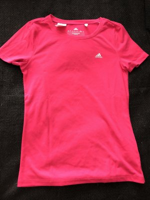 Adidas Sportshirt wit-framboosrood