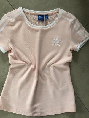 Adidas T-Shirt 3 stripes rosa XS S Neuwertig rose Shirt Sport
