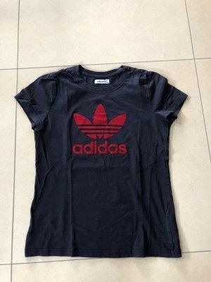 Adidas Camisa deportiva azul Algodón