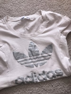 Adidas Camiseta blanco-color plata
