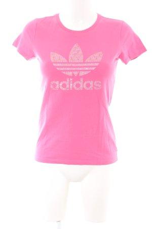 Adidas T-Shirt pink-goldfarben Motivdruck Casual-Look