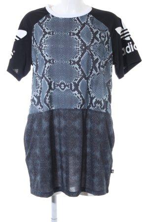 Adidas T-Shirt Animalmuster Reptil-Optik