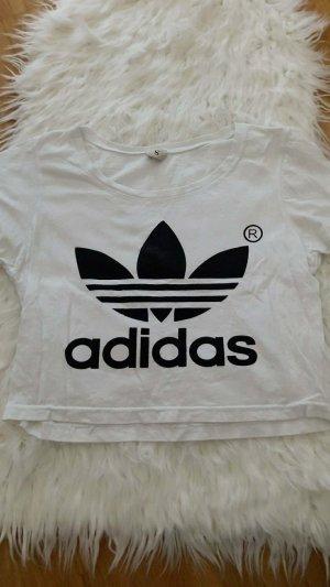 Adidas Originals T-shirt wit-zwart