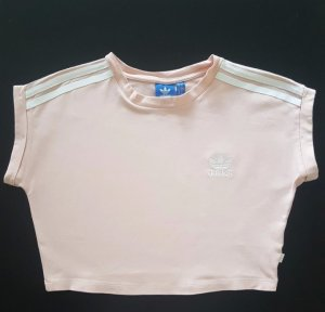 Adidas Cropped shirt wit-rosé